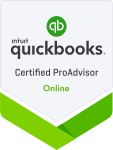 Quickbooks Online Certified Pro Advisor Badge for Small Business Bookkeeping Services