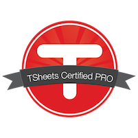 TSheets Certified Pro Advisor Badge for Small Business Bookkeeping Services